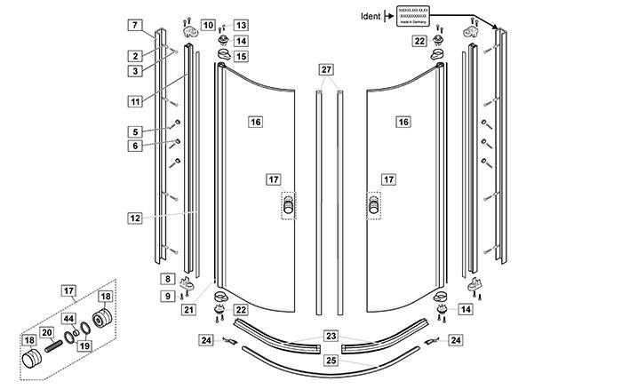 Duscholux Duschkabine Ersatzteile : ersatzteile f r ihre duschkabine online bestellen ~ Watch28wear.com Haus und Dekorationen